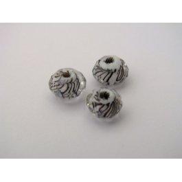 Korálky brúsené 8 mm biela 2 ks