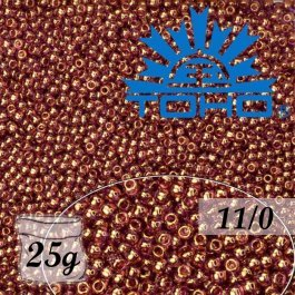 Toho Rokajl 11/0 - Gold-Lustered Lt Amethyst č.203 25g