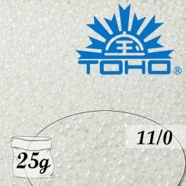 Toho Rokajl 11/0 Opaque-Lustered White č.121 25g
