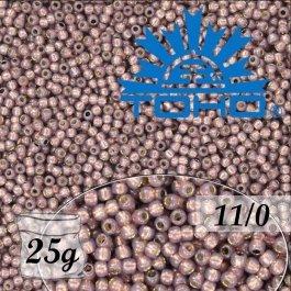 Toho Rokajl 11/0 Silver-Lined Milky Nutmeg č.2114 25g