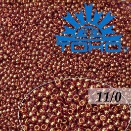 Toho Rokajl 11/0 - Gold-Lustered Lt Amethyst č.203 8g