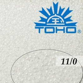 Toho Rokajl 11/0 Opaque-Lustered White č.121 8g
