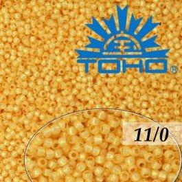 Toho Rokajl 11/0 Permanent Finish-Silver-Lined Milky Lt.Topaz č.PF2110 8g