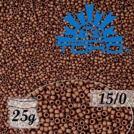 Toho Rokajl 15/0 Opaque-Frosted Oxblood, 25g (č.46F)