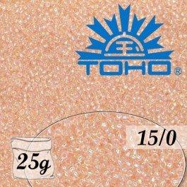Toho Rokajl 15/0 Trans-Rainbow Rosaline, 25g (č.169)