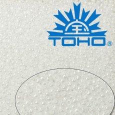 Toho Rokajl 11/0 Opaque-Lustered White č.121 25g