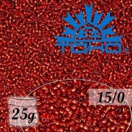 Toho Rokajl 15/0 Silver-Lined Ruby, 25g (č.25C)