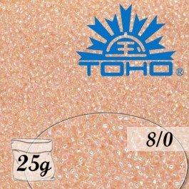 Toho Rokajl 8/0 Trans-Rainbow Rosaline, 25g (č.169)