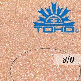 Toho Rokajl 8/0 Trans-Rainbow Rosaline, 10g (č.169)