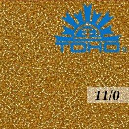 Toho Rokajl 11/0 Silver-Lined Med Topaz, 8g (č.22B)