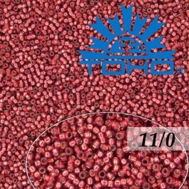 Toho Rokajl 11/0 Silver-Lined Milky Pomegranate 8g (č.2113)