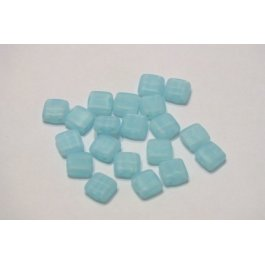 Štvorčeky 2-dierkové 6x6mm,10 ks modrá,010/46