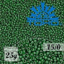 Toho Rokajl 15/0 Transparent Green Emerald č.939 25g