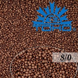 Toho Rokajl 8/0 Opaque-Frosted Oxblood, 10g (č.46F)