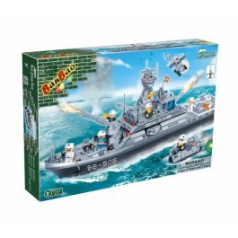 Stavebnica vojenská loď BanBao