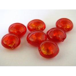Korálky SKLO 14mm SUNNY červená 1ks