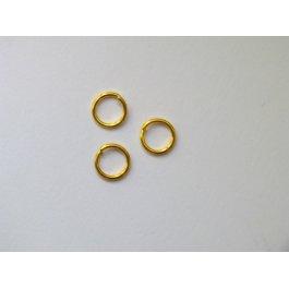 Spojovací krúžok 6 mm zlatý 10 ks