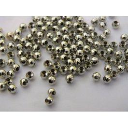 Korálky kovové 3mm 10 g platina