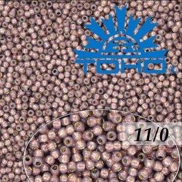 Toho Rokajl 11/0 Silver-Lined Milky Nutmeg č.2114 8g