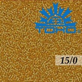 Toho Rokajl 15/0 Silver-Lined Med Topaz, 5g (č.22B)