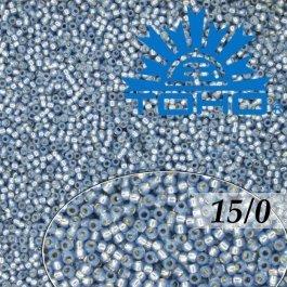 Toho Rokajl 15/0 Silver-Lined Milky Montana Blue 5g (č.2102)