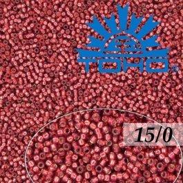 Toho Rokajl 15/0 Silver-Lined Milky Pomegranate 5g (č.2113)