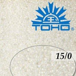 Toho Rokajl 15/0Trans-Rainbow Frosted Crystal, 5g (č.161F)