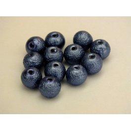 Voskované perly 6mm vrúbkované, modrá 10 ks (06/1)