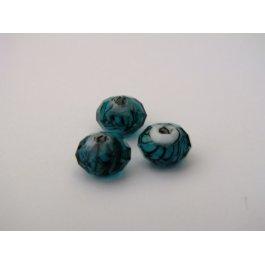 Korálky brúsené 8 mm tyrkys 2 ks