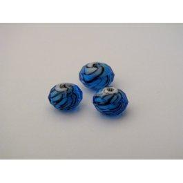 Korálky brúsené 8 mm modrá 2 ks