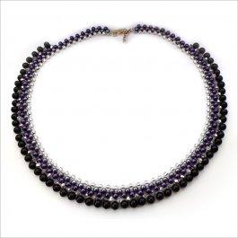 Náhrdelník Black-purple