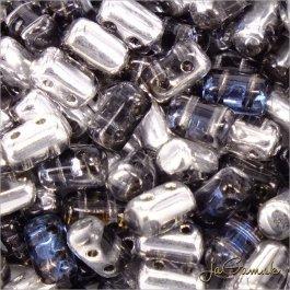 MATUBO™ Rulla - 3x5mm - Crystal/Heliotrope-H00030 - 10 g (R345)