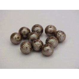 Voskované perly 8mm vrúbkované, hnedá sv. 10 ks