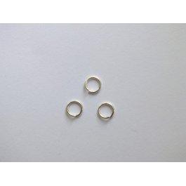Spojovací krúžok 6 mm strieborný 10 ks