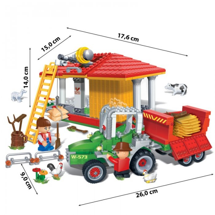 Stavebnica Farma BanBao 8573