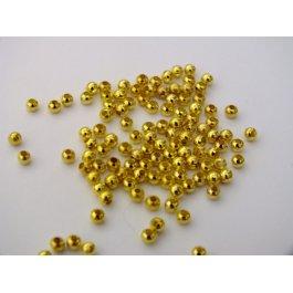 Korálky kovové 3mm 10 g zlato