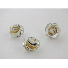 Korálky SKLO ?12mm Spiral biela 1ks