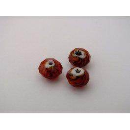 Korálky brúsené 8 mm červené 2 ks