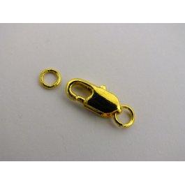 Karabinka 5x15 mm zlatá 2páry