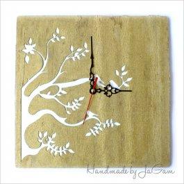 Drevené hodiny Golden tree