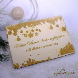 Drevená vianočná pohľadnica 9 x 13 cm (dv012)