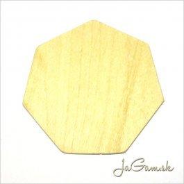 Výrez sedemuholník 8,5 x 8,5 cm 1 ks