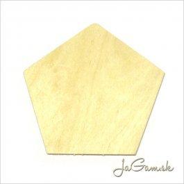 Výrez päťuholník 8,5 x 8,5 cm 1 ks