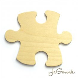 Drevený výrez Puzzle 9 cm 1ks