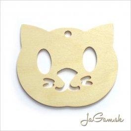 Drevený výrez Mačka 10cm 1ks