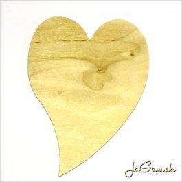 Drevený výrez - srdce 8 x 11 cm 1ks