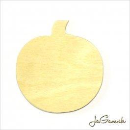 Drevený výrez - tekvica 7 x 7,5 cm 1ks