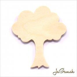 Drevený výrez - strom 7 x 8 cm 1ks