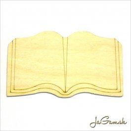 Drevený výrez - kniha 8,5 x 5 cm 1ks