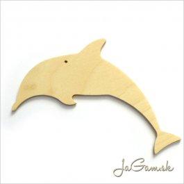 Drevený výrez - Delfín 10cm 1ks